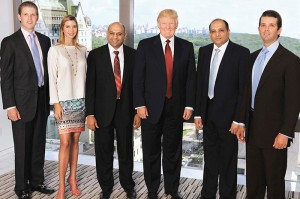 Atul-and-Sagar-Chordia-with-Trump-Family-Aug-6-2012