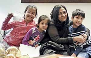 3. Laxmana Dalmia with her grand kids