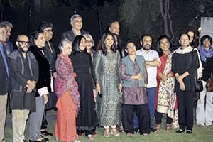 4. Laxmana Dalmia with the artists