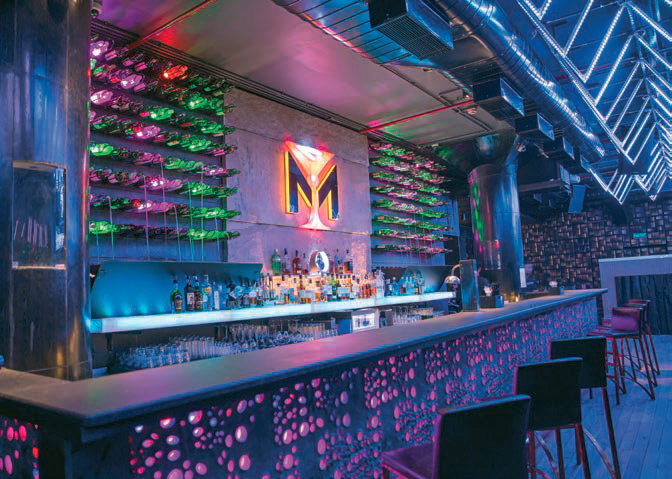Inside the M Bar Kitchen (nightclub)