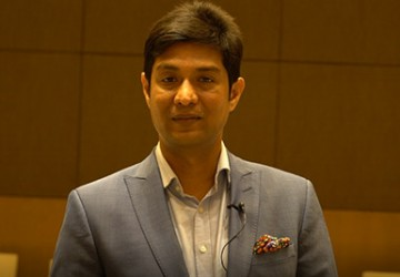 Anirudha Taparia at the book launch of A Tribute to Titans at Delhi